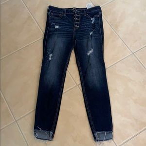 Hollister high rise super skinny crop jeans